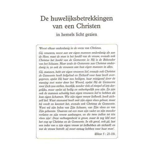 De huwelijksbetrekkingen van een Christen ...