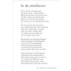 Gedichtenkaart 'In de smeltkroes'