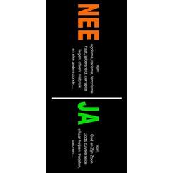 Traktaat: Nee / Ja; nee tegen de zonde, ja tegen God