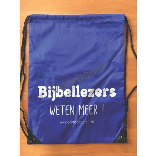 rugzak met de tekst: Bijbellezers weten meer!