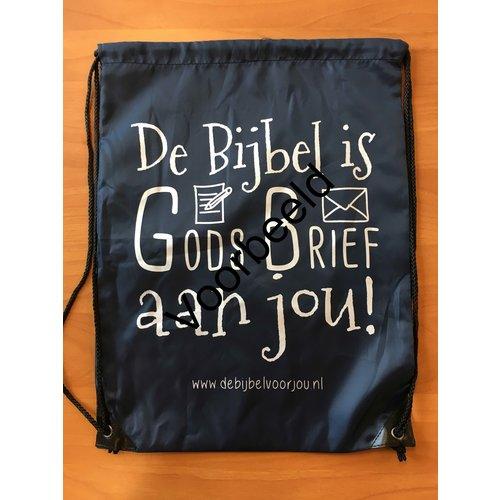Rugzak met de tekst; De Bijbel is Gods brief aan jou
