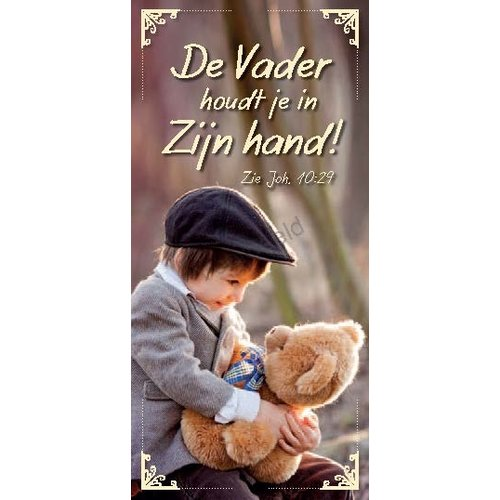 Boekenlegger: De Vader houdt je in Zijn hand.