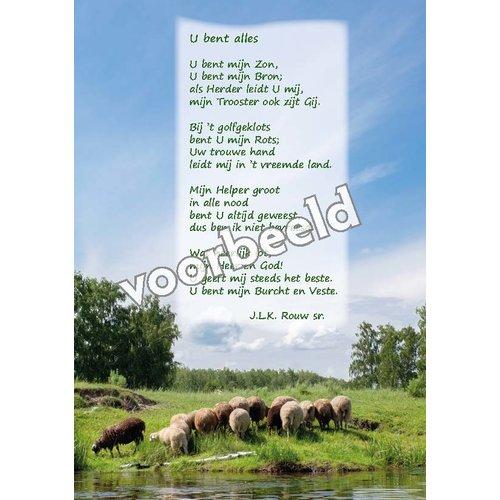 Ansichtkaart met gedicht 82-18