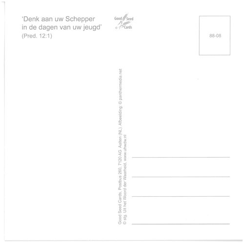 Enkelvoudige ansichtkaart 88-08
