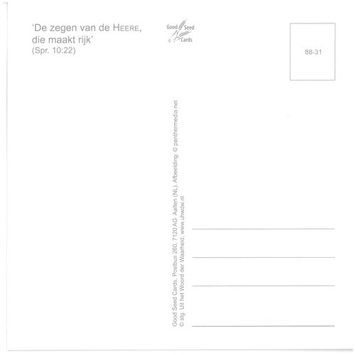 Enkelvoudige ansichtkaart 88-31