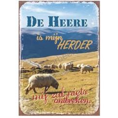 Magneet 5x7 met de tekst: De Heer is mijn Herder mij zal niets ontbreken.