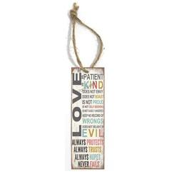 Boekenlegger met tekst (5x15 cm): Love is...