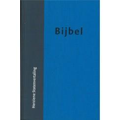 Bijbel Herziene statenvertaling cover blauw