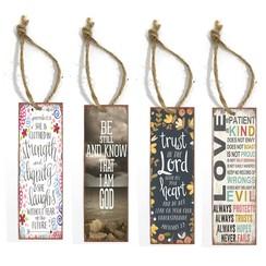 Set metalen boekenleggers met Engelse Bijbelspreuk