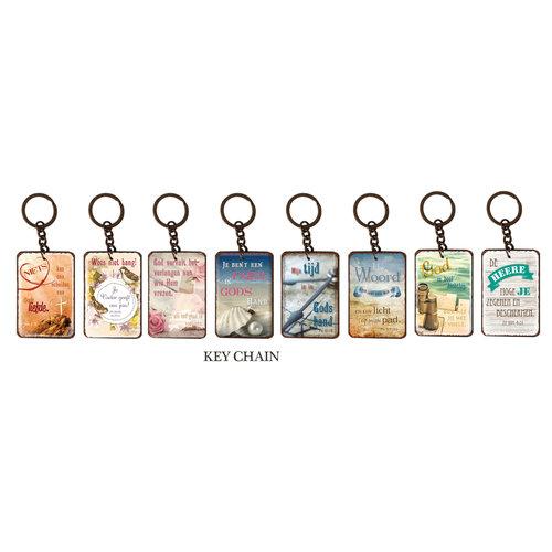 Set met metalen sleutelhangers (8 stuks)