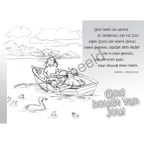 enkelvoudige ansichtkaart 89-11, met Bijbeltekst