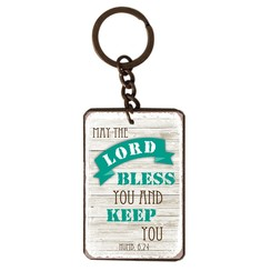 metal key chain/metalen sleutelhanger met de tekst:  May the Lord bless you and keep you! Numb. 6,24
