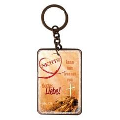 Schlüsselanhänger aus Metall/metalen sleutelhanger,  14 gr. met de tekst: Nichts kann uns trennen vo