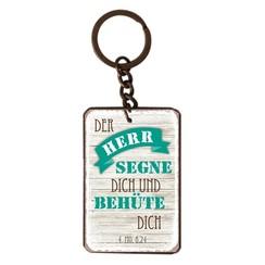 Sclüsselanhänger aus Metall/metalen sleutelhanger,  14 gr. met de tekst: Der Herr segne dich und beh