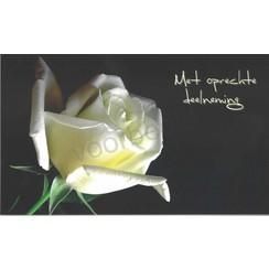 Set van 5 luxe condoleance kaarten inclusief envelop