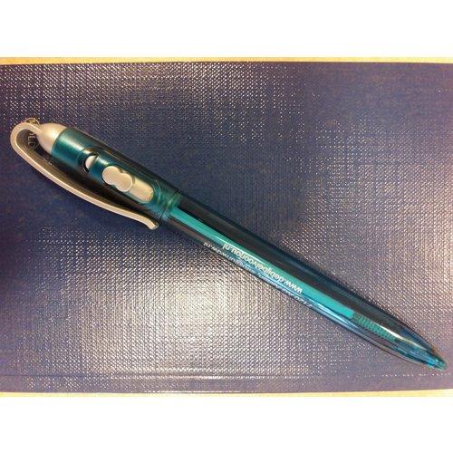 Pen donkergroen met zilverkleurige clip