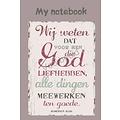 Notitieboek 'Wij weten dat voor hen die God liefhebben, alle dingen meewerken ten goede' (Rom. 8:28)