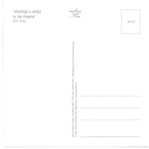 Enkelvoudige ansichtkaart 88-25