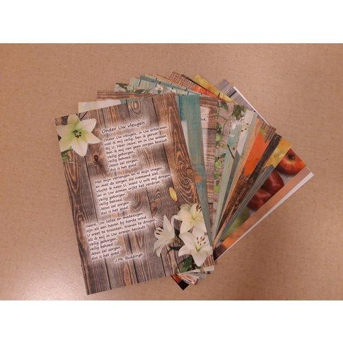 Ansichtkaarten met gedicht 82 serie mix-pakket