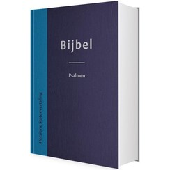 Bijbel Herziene statenvertaling met psalmen cover blauw in beschermhoes