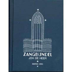 Zangbundel Joh. De Heer. (Ned.) teksteditie