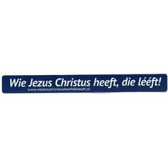 Sticker (langwerpig) met tekst