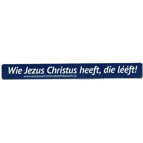 Sticker met tekst