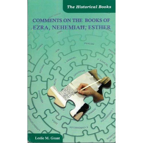 Comments on Ezra Nehemia Esther.