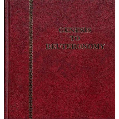 Genesis to Deuteronomy .
