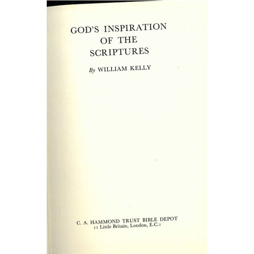 Gods inspiration of Scriptures.