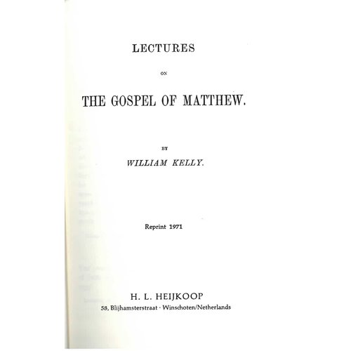 Lectures on the Gospel of Matthew.