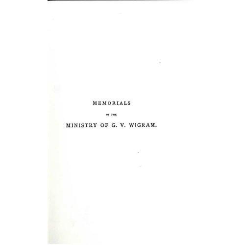 Ministry of GV Wigram vol. 1