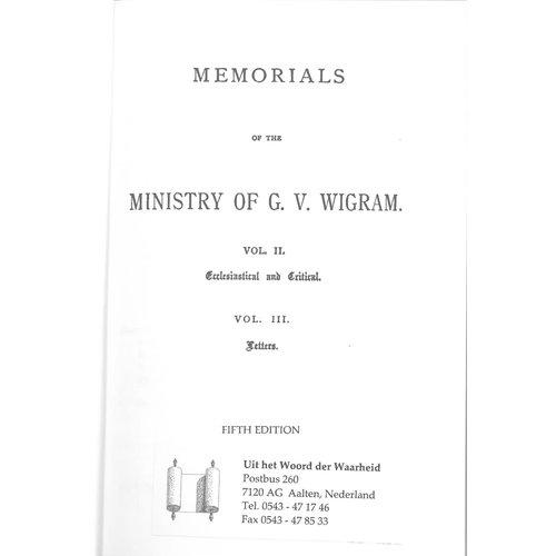 Ministry of GV Wigram vol. 2/3.