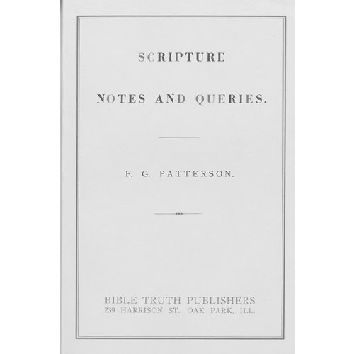Scripture Notes and Queries.