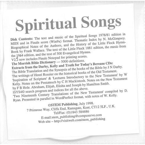 Spiritual Songs.  CD-rom.