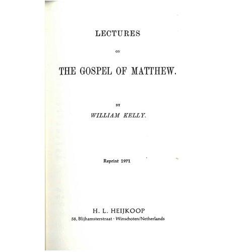The Gospel of Matthew.