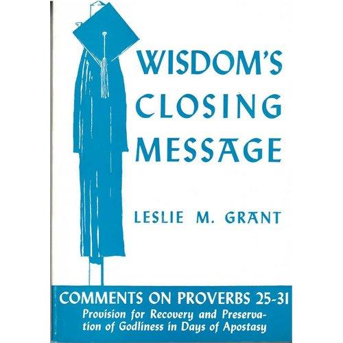 Wisdoms closing message.