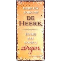 Boekenlegger: Werp uw zorg op de Heere, en Hij zal voor u zorgen.
