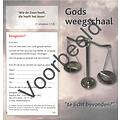 Traktaat: Gods weegschaal - te licht bevonden?