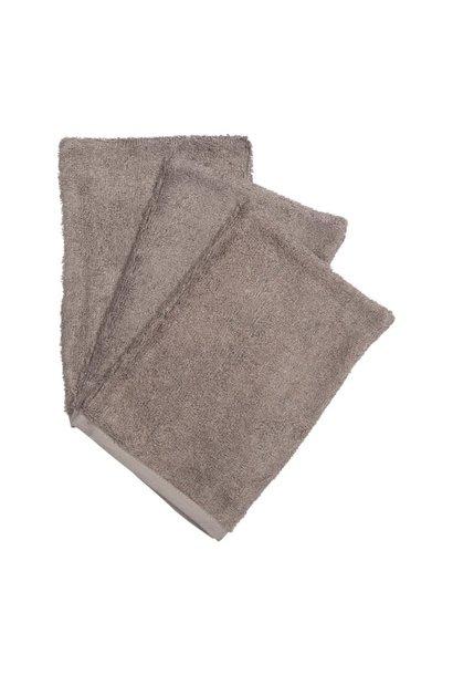Set van 3 washandjes antracite