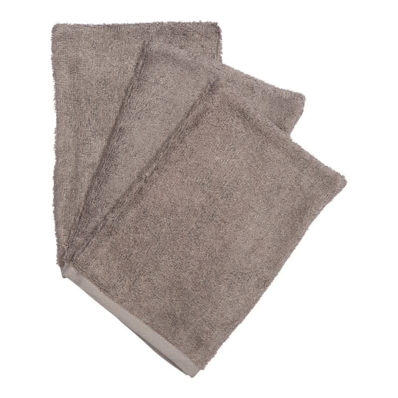 Set van 3 washandjes antracite-1