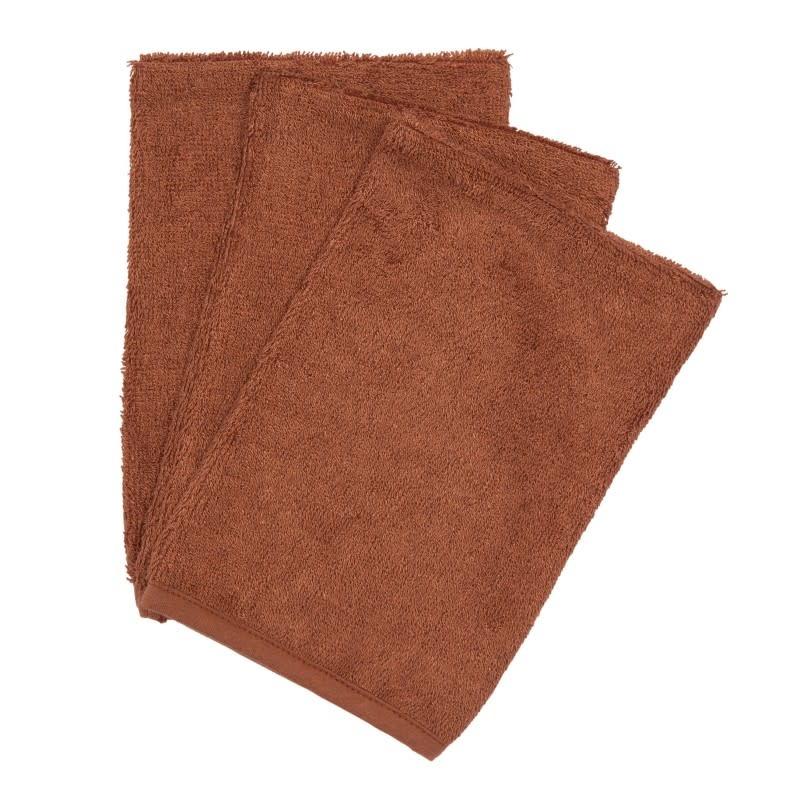 Set van 3 washandjes hazel brown-1