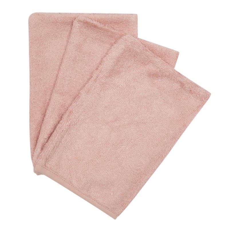 Set van 3 washandjes misty rose-1
