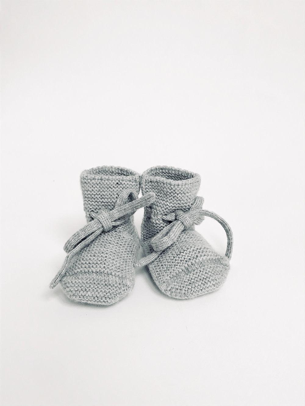 Booties grey melange-1