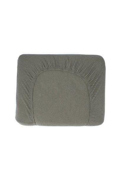 Hoeslaken hermi stripes shadow 75x95