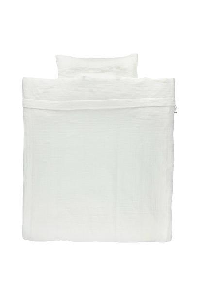 Dekbedovertrek 80x80 bliss white