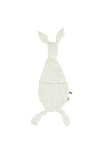 Fopspeendoekje kangoeroe bliss white