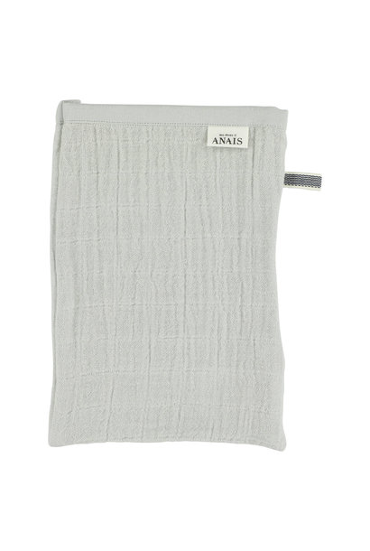 Set van 2 tetra washandjes bliss grey