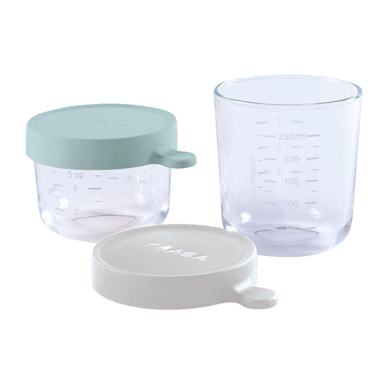 Set van 2 glazen bewaarpotjes 150ml airy green / 250ml mist-1