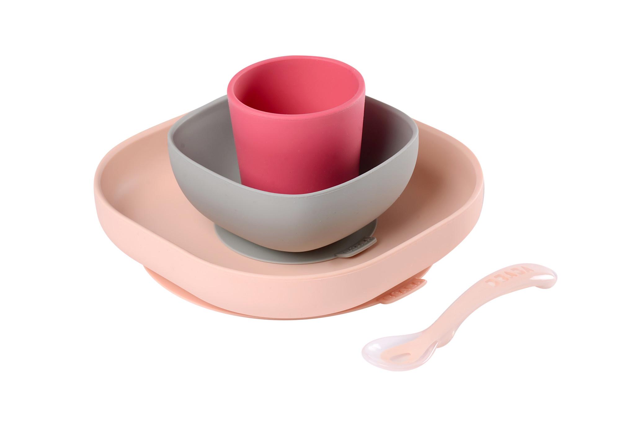 Siliconen eetset pink-1